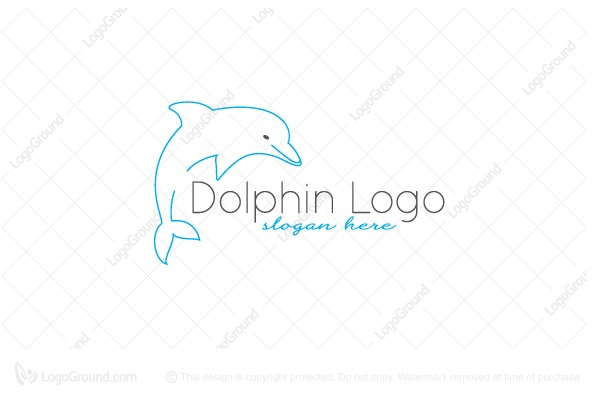 Logo for sale: Dolphin Line Logo