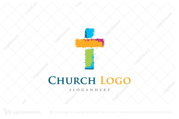 Logo for sale: Colorful Creative Cross Logo