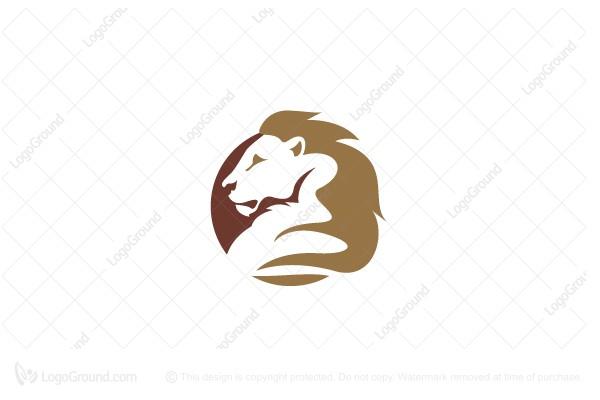 Exclusive Logo 21386, Lion Circle Sun Logo