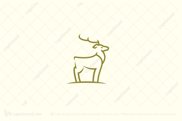 Logo for sale: Minimal Deer Logo