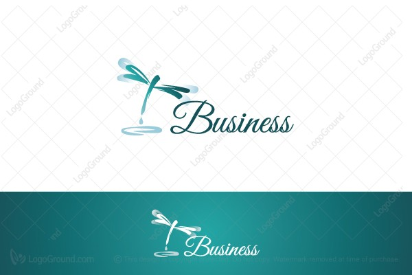 Logo for sale: Dragonfly Drop Logo
