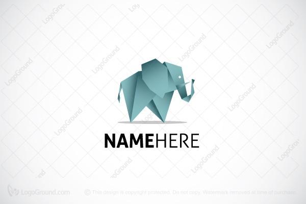Creative Origami Elephant Logo