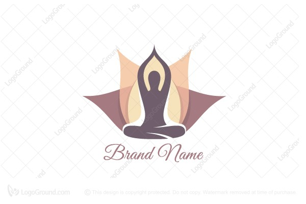 Logo for sale: Yoga Lotus Logo