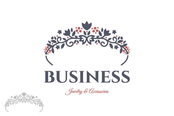 Logo for sale  Floral Crown Jewelry Logo 2dba56fd470