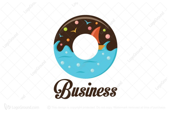 Logo for sale: Sea Donut Logo