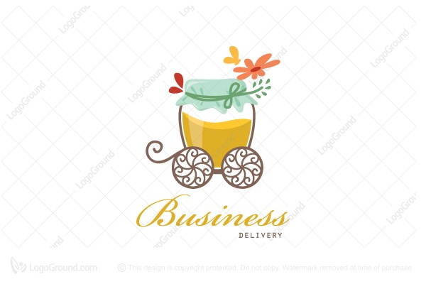 Logo for sale: Honey Cart Delivery Logo