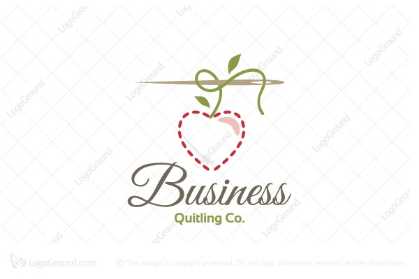 Logo for sale: Cherry Quilting Logo