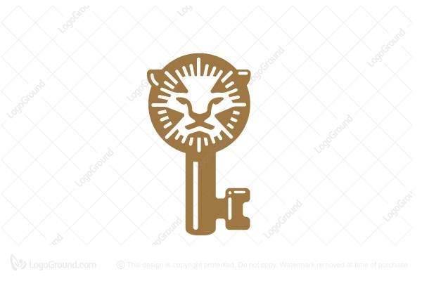Logo for sale: Lion Key Logo Design Logo