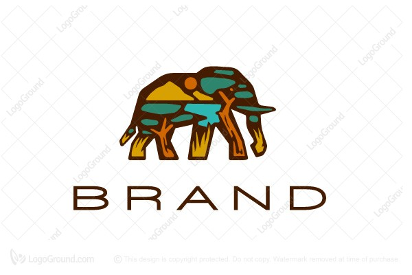 Logo for sale: Savanna Elephant Logo
