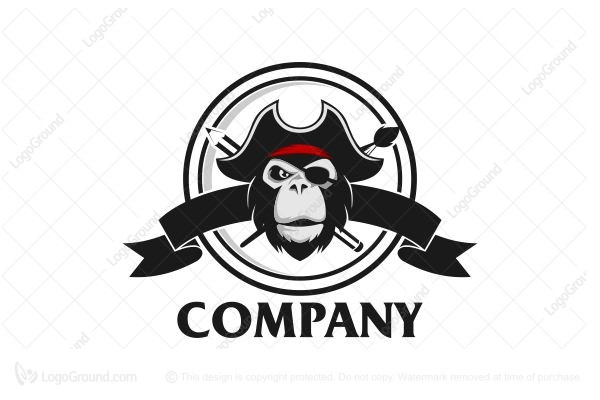 Logo for sale: Pirate Monkey Logo