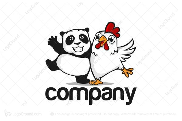 Logo for sale: Panda And Chicken Logo