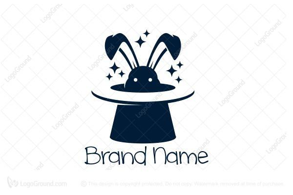 Magic Rabbit Logo For Sale Logo