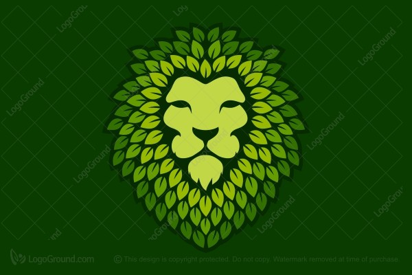 Logo for sale: Wild Green Lion Logo