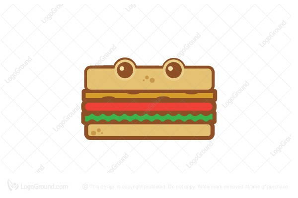 Logo for sale: Cute Flat Sandwiche Logo