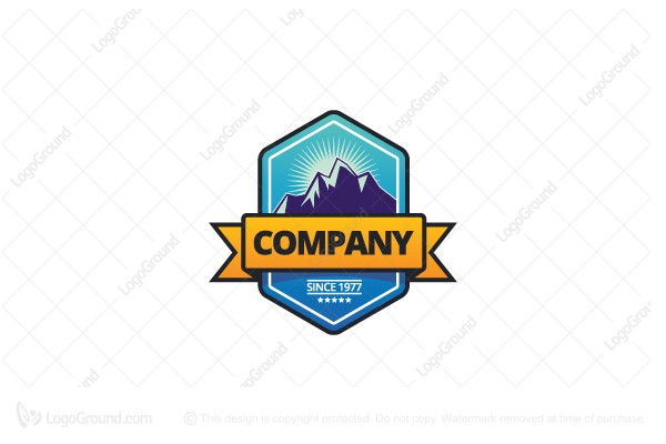 Logo for sale: Rocky Mountain Badge Logo