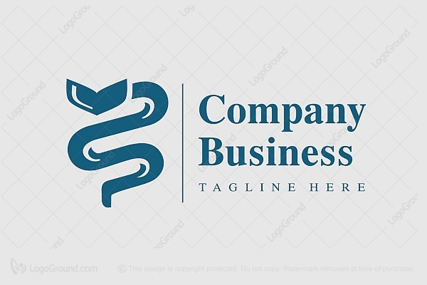 Logo for sale: Medical Snake Logo