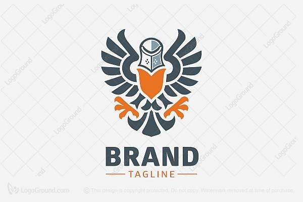 Logo for sale: Helmeted Eagle Logo