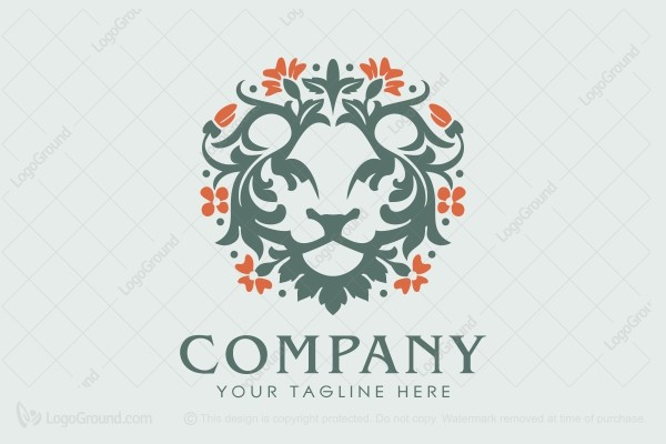 Logo for sale: Lion Herbal Logo