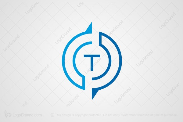 Logo For Sale Letter T Compass