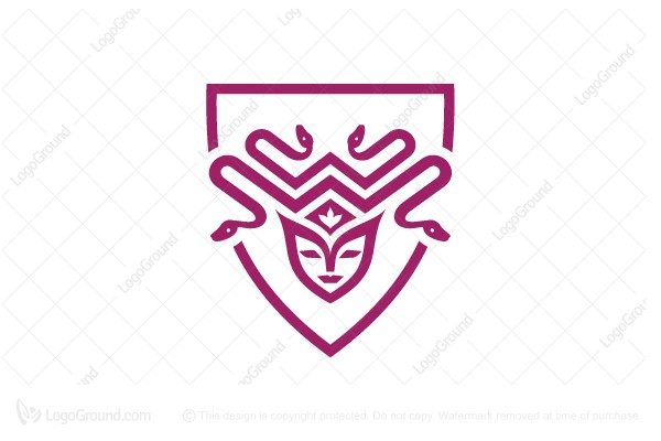 Logo for sale: Medusa Emblem Logo
