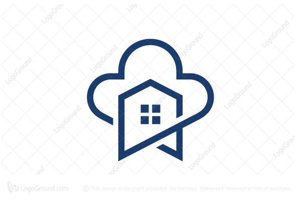 Logo for sale: House Cloud Logo