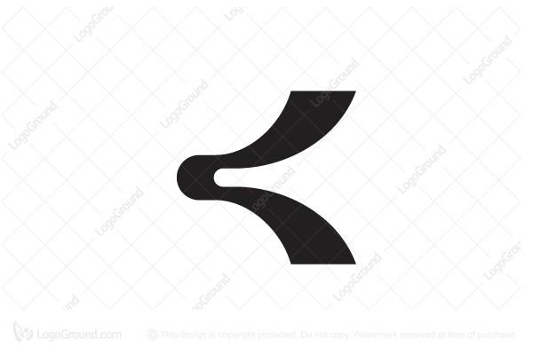 Logo for sale: Stylized letter k Logo