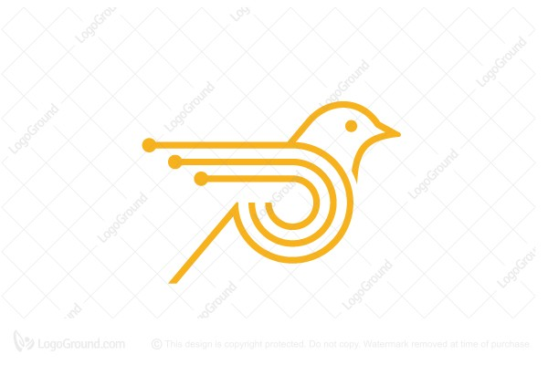 Logo for sale: High Technology Bird Logo