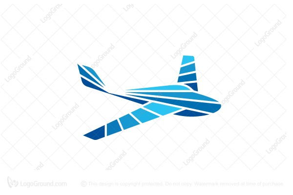 unique airplane logo