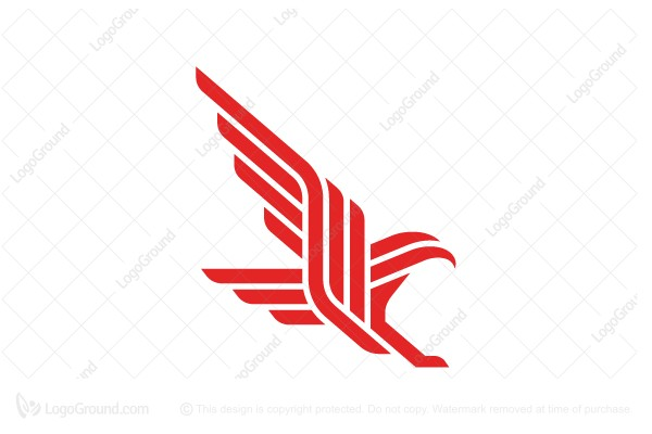 Logo for sale: Multi-lines Eagle Logo