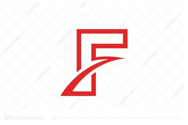 swooshy letter f logo