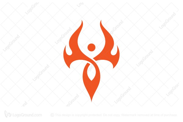 Logo for sale: Fire Abstract Bikram Yoga Logo