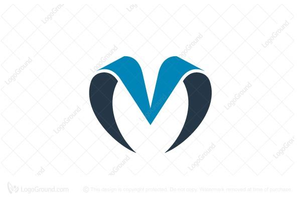 Logo For Sale Combo Letter M V