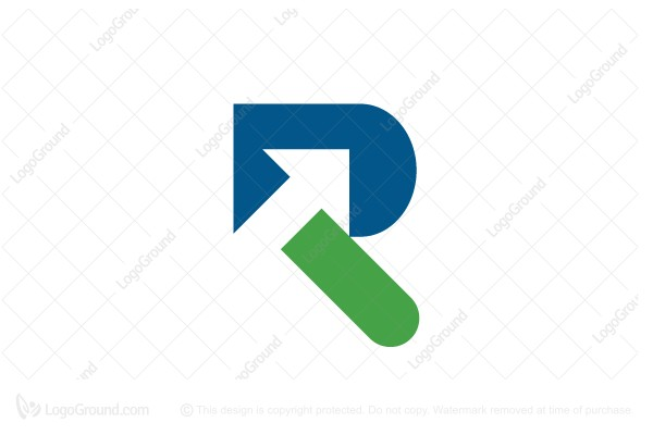 Letter R With Arrow Logo