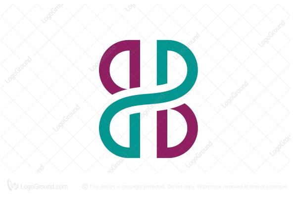 Connected letter b b logo for Logo b b