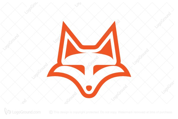 simple unique fox head logo