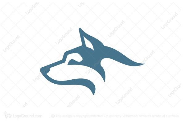 Logo for sale: White Husky Head Logo