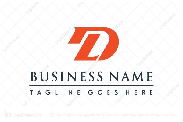 Letter Dl Or Ld Logo