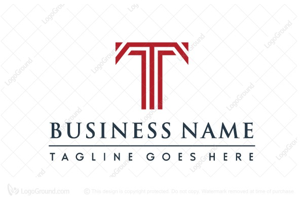 corporate letter t logo