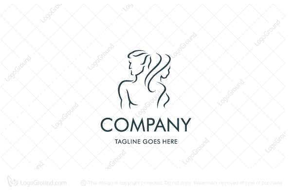 Logo for sale: Man Woman Wellness Logo