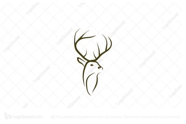 deer head logo rh logoground com deer head logo clothing brand Deer Head Stencil