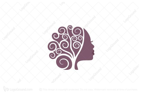 african women tree logo