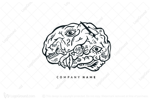 Logo For Sale Creative Brain Artistic Educational