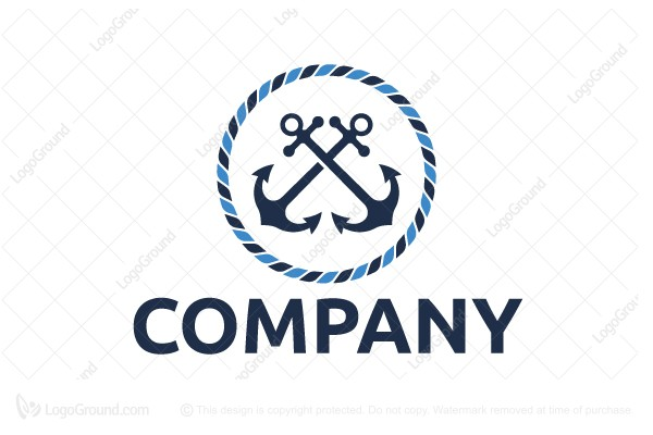 blue anchors and rope logo