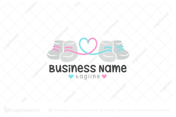 logo for sale tiny baby shoes logo