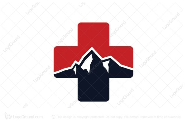 Logo for sale: Red Cross Mountain Logo