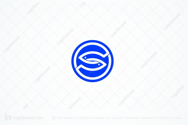 Logo for sale: S Fishes Logo