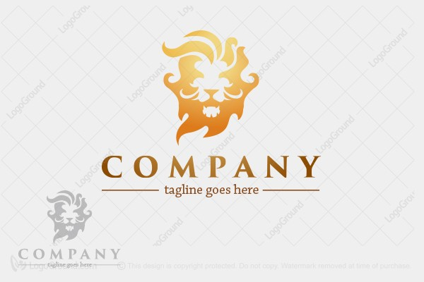 Logo for sale: Lion Fire Logo