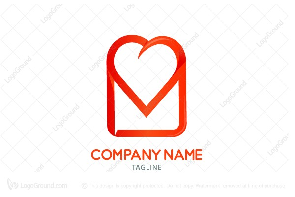 Logo for sale: Love Message  Logo