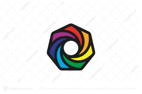 Logo for sale: Colorful Iris Logo