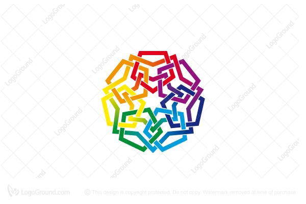 Logo for sale: Colorful Unity Logo